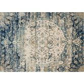 Found it at Wayfair - Anastasia Blue/Ivory Area Rug