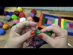 Pletený patchwork - deka 2. díl, Knitting patchwork blanket - YouTube Patchwork Blanket, Knitted Afghans, Knitting Videos, Crochet Necklace, Christmas Ornaments, Holiday Decor, Youtube, Christmas Jewelry, Baby Afghans