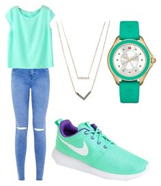 """""""Untitled #29"""" by bryleighsageapple on Polyvore featuring NIKE, Michael Kors and Michele"""