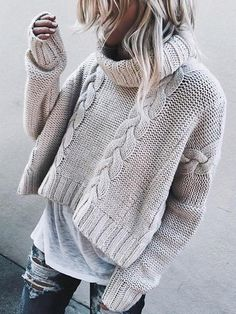 Fashion Turtleneck Loose Twist Sweater  fashion  beautiful  stylish  cute   bohemiastyle   ab7d53c06