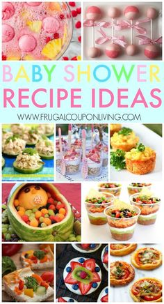 Baby Shower Recipes Ideas, baby shower games and more on Frugal Coupon Living.