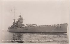 Postcard of the battleship HMS Nelson From the WW II collection of C.E.R.A Albert Sayer, R.C.N.V.R. Courtesy of Karen Pelton