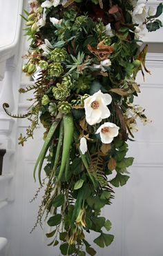 """What an exciting combination of plants and flowers! """"Specimen Drape 8"""" by Yedda Morrison.  // Great Gardens  Ideas //"""
