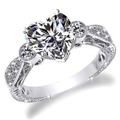 I would love this if it weren't a heart diamond.  I would want just a simple square diamond.
