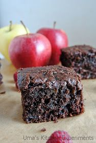My Kitchen Experiments: Eggless Chocolate Apple Cake