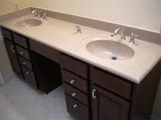 Bathroom Vanities With Makeup Area Cherry Bath Vanity