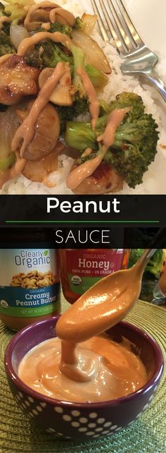 Peanut sauce can be