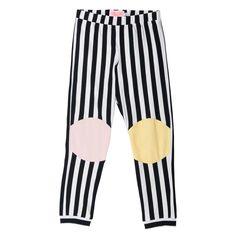 BangBang Copenhagen Happy Legs Stripe Leggings - Yellow Lolly