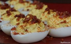 If you love deviled eggs as much as we do, you& going to love Slap Ya Mama& deviled eggs recipe with our hot blend and hot sauce seasonings. Try it today Egg Recipes, Snack Recipes, Cooking Recipes, Snacks, Recipies, Crab Deviled Eggs Recipe, My Favorite Food, Favorite Recipes, Egg Ingredients