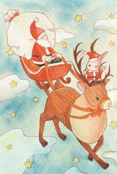 「メリークリスマス」 「Merry Christmas 」 Illustration : Shoko.h