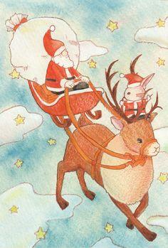 「メリークリスマス」 「Merry Christmas 」 Illustration : Shoko.h