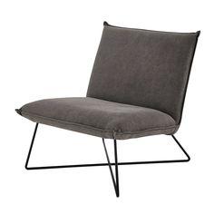 Cotton armchair in grey Lucas