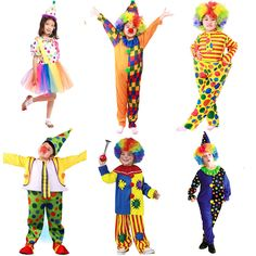 Halloween-Costumes-Kids-Children-Circus-font-b-Clown-b-font-Costume-Naughty-Harlequin-Fancy-Fantasia-Infantil.jpg (800×800)