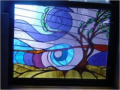 """""""Brother Wind, Sister Air"""" by Sister Ann Therese Kelly, Illumination Stained Glass Studio"""