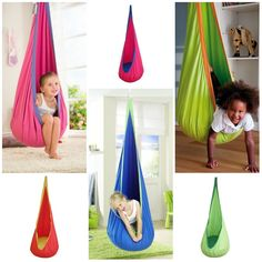 Child Hanging Swing Seat Chair Crows Nest Hammock Swing Nook Tent  #Unbranded