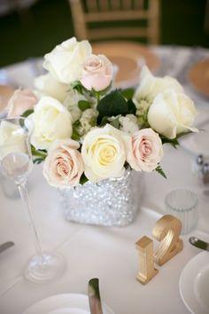 Elegant White + Gold Waterfront Wedding