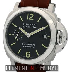 Officine Panerai Luminor Marina 40mm iN Stainless Steel With A Black Arabic Dial (PAM 48)