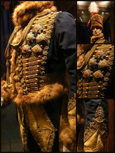 Napoleonic era, British Hussar Officer Uniform. Photos taken at Plas Newydd, Anglesey.