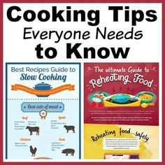 To make the tastiest food (and spend the least amount of time in the kitchen), you'll want to make sure you know these handy cooking tips!