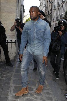 Are Kim & Kanye The New Britney & Justin? #refinery29  http://www.refinery29.com/2014/05/68249/kim-kardashian-kanye-west-matching-jean-outfits#slide2  You work that denim-on-denim look, Yeezus.