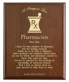 Pharmacists Prayer Plaque Personalized Pharmacy Gift for Pharmacy Quotes, Pharmacy Gifts, Pharmacy Student, Pharmacy School, Medical Quotes, National Prayer Day, World Pharmacist Day, Pray For America, Pharmacology Nursing