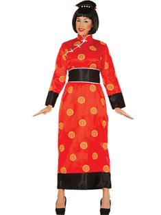 This elegant and stylish costume is perfect for Chinese New Year. Pick it up at partydelights.co.uk.