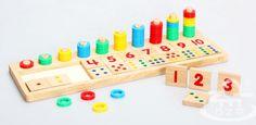 Anéis do arco íris dominó crianças de ensino Montessori brinquedo matemática de…