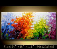 contemporary wall art Modern Landscape by xiangwuchen on Etsy