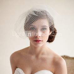 Wedding Veil Double Layer Birdcage Veil   LightInTheBox