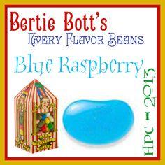 Bertie Bott's Every Flavor Bean Challenge: Blue Raspberry // Summer 2014 Term // Harry Potter Craftalong @ craftster.org