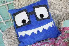 monster pillow book buddy by ylheidi on Etsy, $20.00