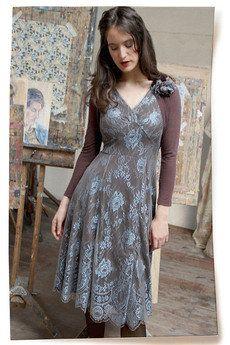 Kristen Winter Blue Lace Dress