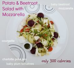 Tinned Tomatoes: 5:2 Diet - Potato and Beetroot Salad with Mozzarella = 300 calories