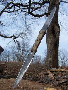 Hand Forged Ninja Tool Double Bladed Kunai by NinjaSurplus on Etsy