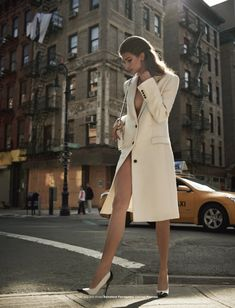 Coat, Shoes and Bag by Salvatore Ferragamo. Kendra Spears in Madame X by Mariano Vivanco for Muse Winter 2011.