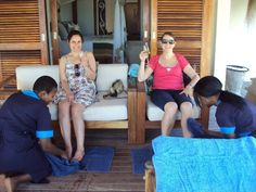Liesel and Tracy being pampered at Azura Lodge, Mozambique African Vacation, African Safari, Fashion, Moda, La Mode, Fasion, Fashion Models, Trendy Fashion