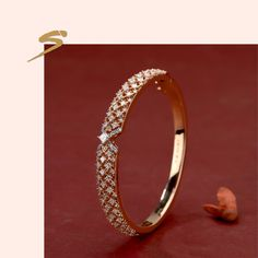 Encrusted with majestic diamonds! Encrusted with majestic diamonds! Gold Ring Designs, Gold Bangles Design, Gold Jewellery Design, Jewellery Box, Black Diamond Earrings, Diamond Bangle, Gold Earrings, Indian Earrings, Chain Earrings