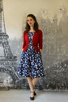 awesome Emily and Fin Day After Day Dress in Yours Truly | Mod Retro Vintage Dresses | M...