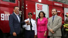 Armario de Noticias: Liga Municipal dona tres camiones al 911