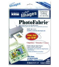Blumenthal Craft Photofabric Cotton Canvas 5-8.5in X 11in SheetsBlumenthal Craft Photofabric Cotton Canvas 5-8.5in X 11in Sheets,