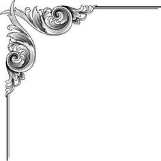 scrolled corners | Acanthus Scroll