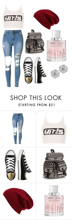 """Day Girls"" by jarias-melendez on Polyvore featuring Alexander Wang, Converse, NLY Accessories, Halogen and Jimmy Choo"