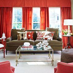 Salon w czerwieni