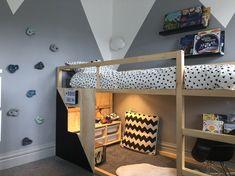 Big Boy Bedrooms, Big Girl Rooms, Boy Rooms, Mydal Ikea, Ikea Kids Bedroom, Ikea Beds For Kids, Lego Bedroom, Childs Bedroom, Ikea Bed Hack