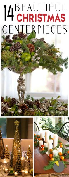 Need some inspiration for a beautiful Christmas centerpiece?  Check out these 14 ideas for your holiday party!