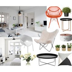 Dreamy apartment by vestvikkine on Polyvore featuring interior, interiors, interior design, home, home decor, interior decorating, HAUS, David Francis Furniture, Metalmobil and DwellStudio