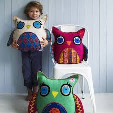 vintage tufted pillows flowers owls mother - Google Search