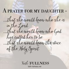 I'm sharing my daily prayer for my daughter. I believe if we pray identity over our kids from a young age they will grow up to be confident & strong in the Lord | http://Faith-Fullness.net