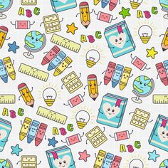 Find Seamless Pattern Cute School Object stock images in HD and millions of other royalty-free stock photos, illustrations and vectors in the Shutterstock collection.