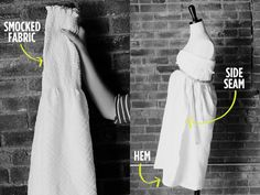 Easy maternity dress... buy 1 yard smocked fabric, pin around bust, sew side seam and done!